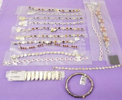 New Old Stock Sterling Silver .925 High Quality Bracelets Wholesale Lot 257.1g