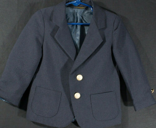 Scottish Wool Blend Blazer Toddler Suit Coat Jacket Vintage Label Full Lining 2T
