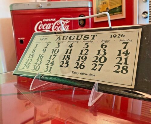 Coca Cola 1926 August Page Girl With Tennis Racket Calendar From Allan Petretti