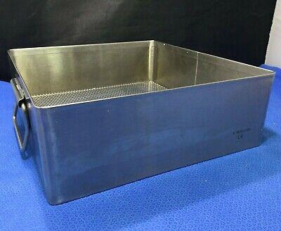 Stainless Steel V. Mueller 10x10.5x3.5 Sterilization Basketinstrument Tray  Kp