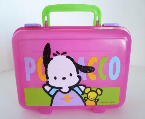 VTG Sanrio 1989 1994 Pochacco Pink Plastic Lunch Box School Supply Storage Case