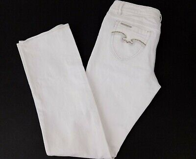 Denim Heather (Jordache Heather White Denim Slim Boot Cut Pants Womens Sz 12 Stretch Jeans )