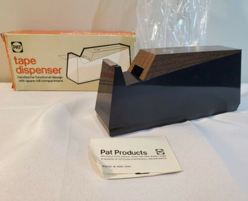 Vintage Pat Tape Dispenser Model 201 - Designed W/ Spare Roll Compartment - RARE