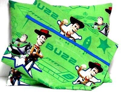Baby Buzz Lightyear (Buzz Light year Toddler Pillow and Pillowcase set Green Cotton #BL6 New Handmade)