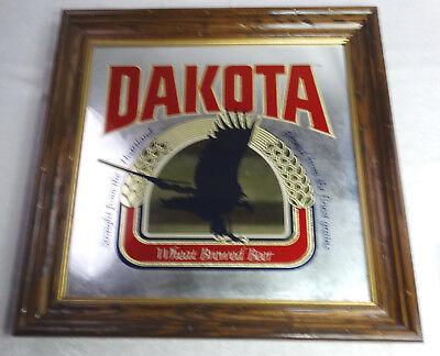 "Dakota Big 25"" Beer Alcohol Man Cave Framed Etched Mirror Decoration Decor  NEW"