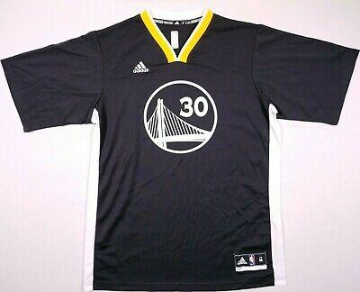 Adidas NBA Golden State Warriors 30 Stephen Curry Black Jersey Size M Men's