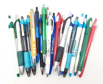 20 Misprint Ballpoint Pens Assorted Retractable