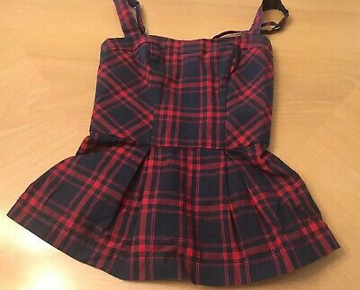 ABERCROMBIE KIDS GIRLS BLUE Red Plaid TANK TOP SIZE SMALL (Blue Kids Tank Top)