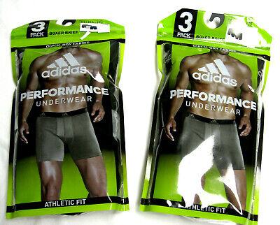 adidas Climalite Performance Boxer Briefs Athletic Fit 3 Pack Choose Size (Athletic Boxer Briefs)