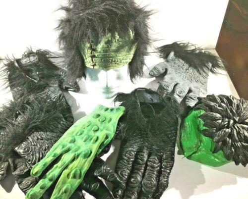 Mixed Costume Accessory Lot Gorilla Frankenstein Monster Halloween Alien Hulk