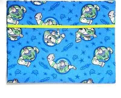 Baby Buzz Lightyear (Buzz Light year Toddler Pillowcase on Blue Cotton BL7-2 New Handmade)