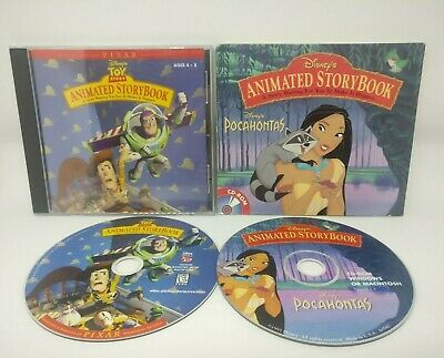 Disney Animated Storybook Toy Story Pocahontas PC CD-COM Interactive Disc 1990s