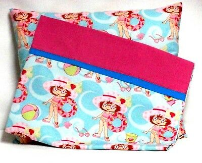 Strawberry Shortcake Toddler Pillow and Pillowcase Blue Cott