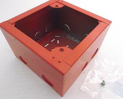 Wheelock Sbb Red Fire Alarm Box - Fire Alarm Enclosure 1207 Prepaid Shipping