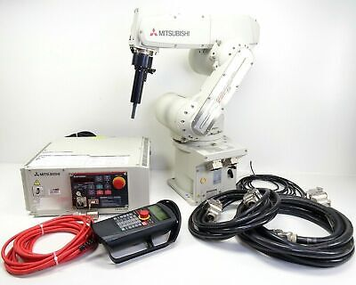Mitsubishi Industrial Robot Robotic Arm Rv-6sd-s12 Controller Teach Pendant
