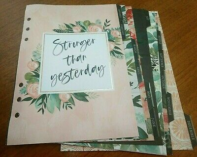 The Paper Studio Agenda 52 - 12 Month Planner Divider Pages Only Floral Jan-dec