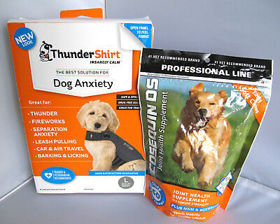 Thundershirt Dog Anxiety Shirt Grey L & Cosequin DS Joint Health Supplement