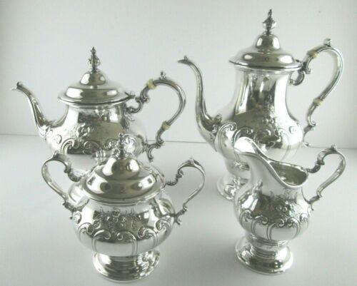 Vintage Gorham CHANTILLY Countess Sterling Silver Tea Serving Set - 4pc