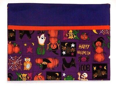 Babies On Halloween (Halloween Toddler Pillowcase on Ghost&Pumpkins Purple Cotton HA2-6 New)