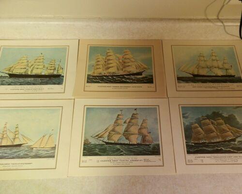 Vintage Pan Am Clipper Class Menu 6 Ship Art Covers & Signed Letter