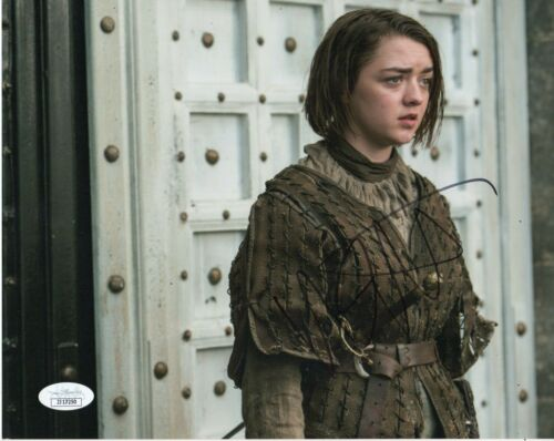 Maisie Williams Game of Thrones Autographed Signed 8x10 Photo JSA COA #6