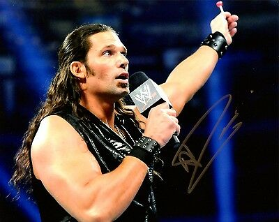 "WWE SIGNED PHOTO ADAM ROSE WRESTLING 8x10"" WITH COA"