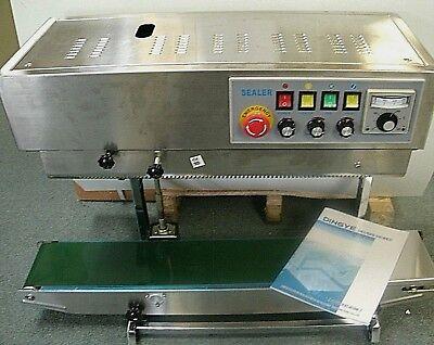 Industrial 220 Volt Frd-1000 Ss Vertical Continuous Band Bag Sealer Ink Coder