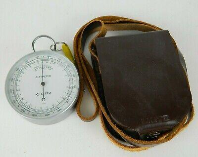 Vintage Lietz Altimeter Land Survey With Leather Case Strap