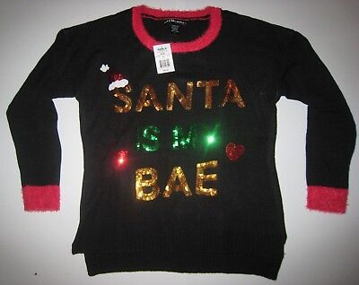 Women's Christmas Sweater Santa is my Bae New NWT MSRP $50 S-M-L-XL Ugly Sweater - Woman Ugly Christmas Sweater