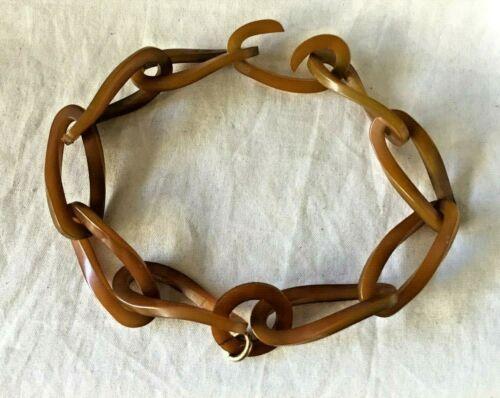 Vintage BAKELITE Link CHAIN NECKLACE. Circa 1930