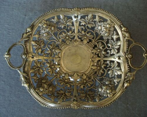 Imperial Russian Fraget Norblin Warsaw Poland Silver Plate Fruit Basket Dish
