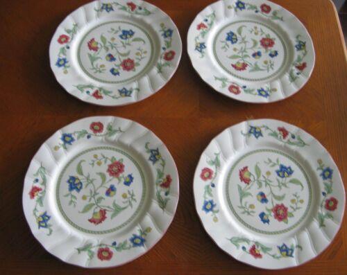 Set of 4 Villeroy & Boch PERSIA (Scalloped) Porcelain Dinner Plates
