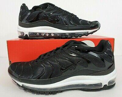 2b36a3bca6cf0a Nike Air Max 97 Plus Tune Up Black White Running Shoes AH8144-001 Size 9.5
