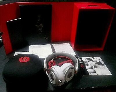 Beats PRO Headphones by Dr.Dre Beats  White / Red-Original Box ,Cables, Case
