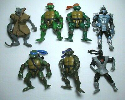 2002 Ninja Turtles Leo Mikey Raph Donnie Splinter Shredder Foot Figure Lot TMNT