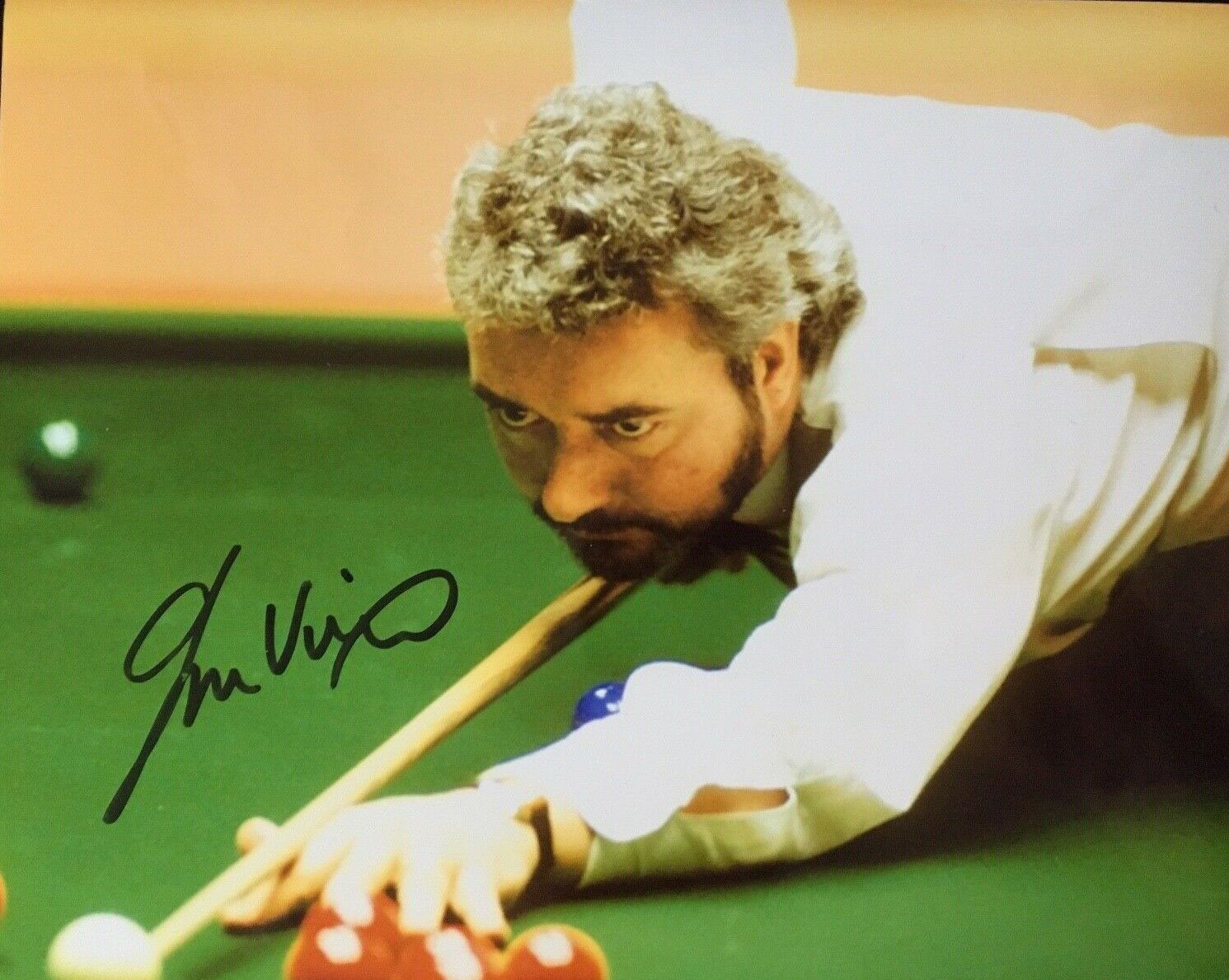 JOHN VIRGO - LEGENDARY ENGLISH SNOOKER PLAYER - EXCELLENT SIGNED PHOTO