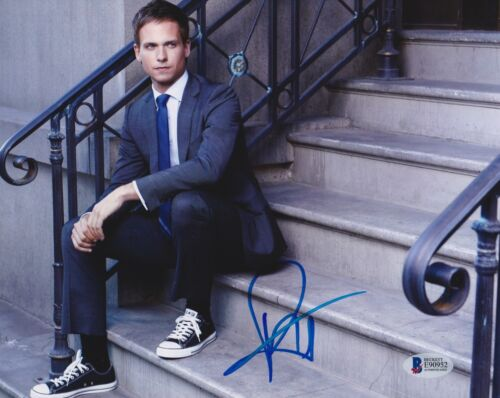 PATRICK J ADAMS SIGNED 8X10 PHOTO SUITS BECKETT BAS AUTOGRAPH AUTO COA A