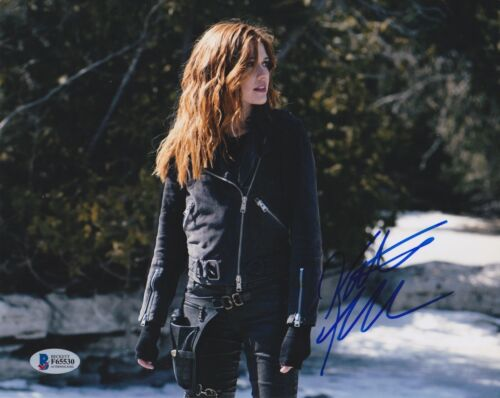 KATHERINE MCNAMARA SIGNED 8X10 PHOTO SHADOWHUNTERS BECKETT BAS AUTOGRAPH AUTO A