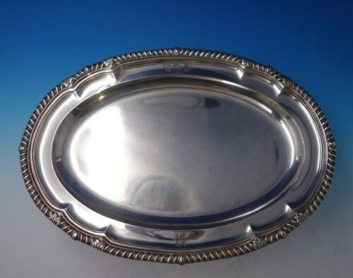 Paul Storr English Georgian Sterling Silver Platter Gadroon Acanthus Leaf #5106