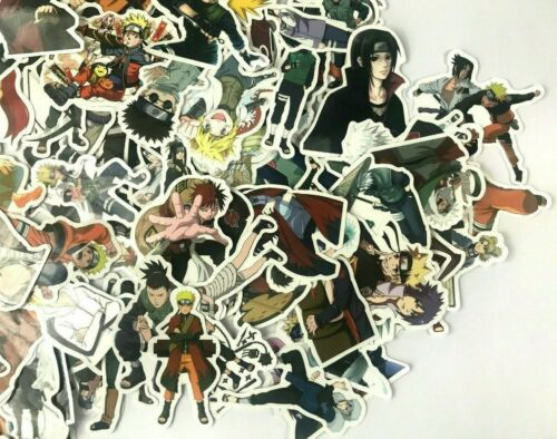 100 Lot Anime Naruto Characters Laptop Wall PS XBOX Notebook Decal Sticker Pack