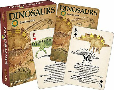 Dinosaurs (Smithsonian Museum) set of 52 playing cards (+ jokers) (nm)