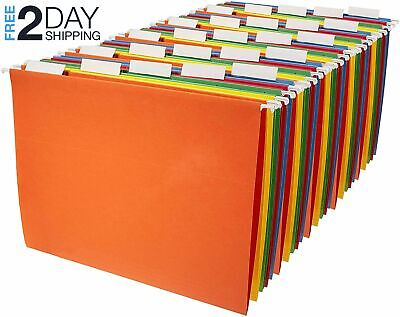 Amazonbasics Hanging File Folders - Letter Size 25 Pack - Assorted Colors