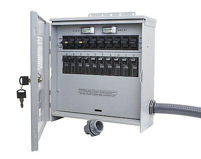 Outdoor 12500-watt Generator Transfer-switch 125250-v 50-amp 10-circuit Cs6375