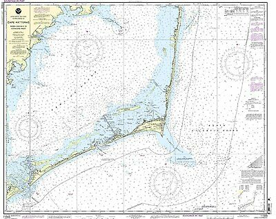 NOAA Chart Cape Hatteras-Wimble Shoals to Ocracoke Inlet 41st Edition 11555