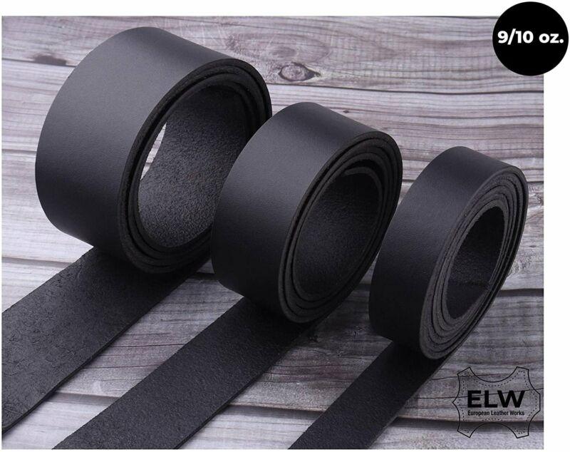 "ELW Black Tooling Leather Belt Blanks, Strips, Straps 1/2"" to 4"" Wide, 68-72..."