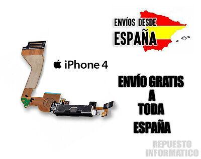 CONECTOR DE CARGA iPHONE 4 4G COLOR NEGRO MICROFONO FLEX DOCK DATOS