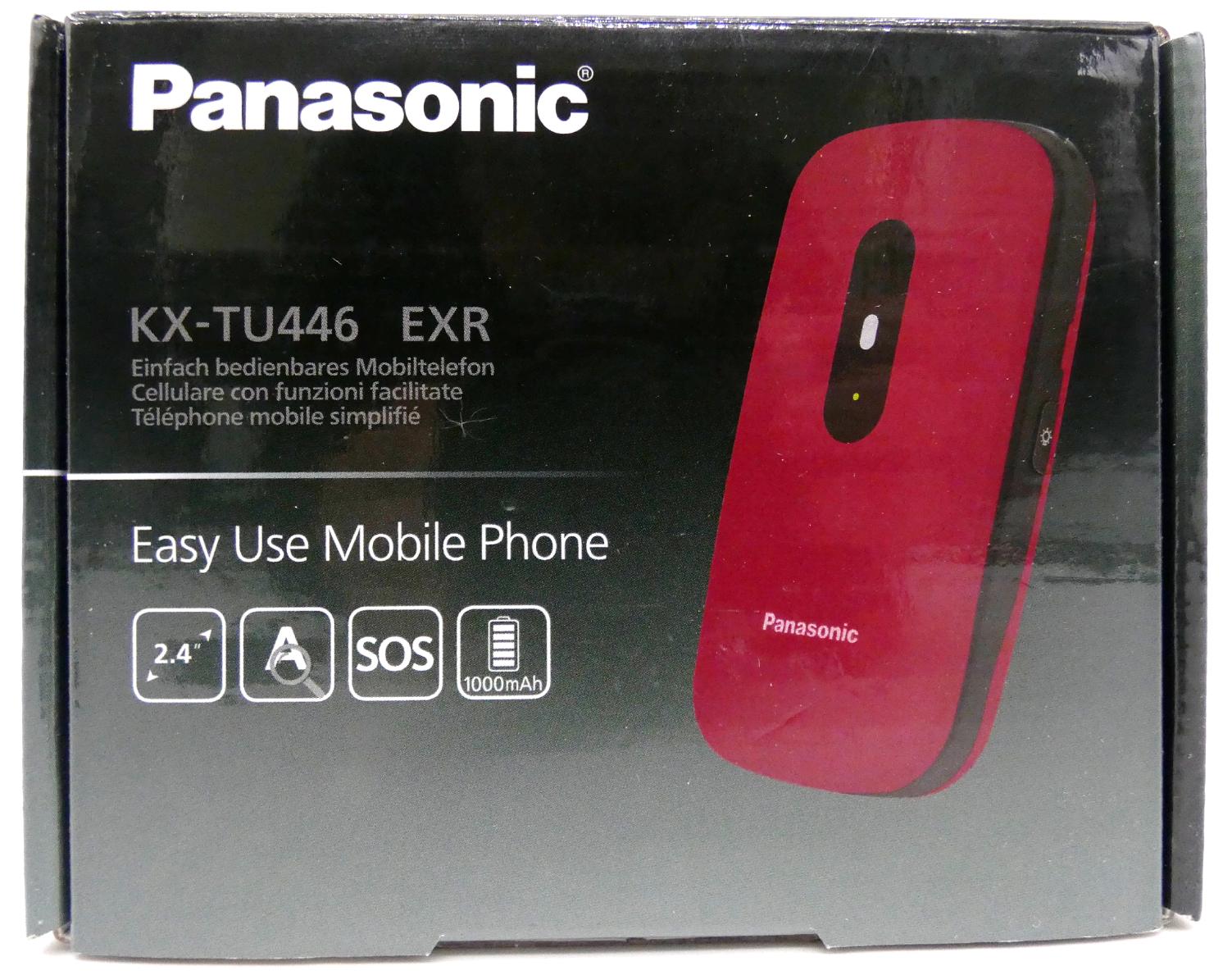 Panasonic KX-TU446 rot Smartphone Handy Senioren SOS-Taste Klapphandy OVP