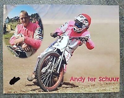Foto m.Orig.AG Andy ter Schuur HOL Grasbahn / Speedway Weltklasse Rarität! gebraucht kaufen  Dülmen