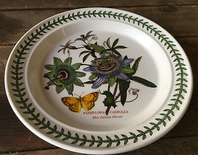 Blue Passion Vine - Portmeirion Botanic Garden England Dinner Plate Blue Passion Flower Vines 76987