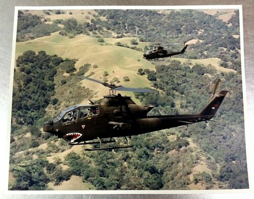 NASA Ames AC88-0215-21 Photograph: (2) Bell AH-1S Cobra Helicopters in Formation